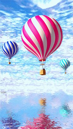 Hot air balloons. Click GIF to see it move