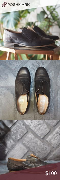 NWT! Re-Soul Bret Black Leather Loafers Edgy Buttery Soft Italian Leather Menswear Inspired Loafer Size 38. Purchased in Seattle Boutique 1 year ago - Never Worn. Re-Soul Shoes Flats & Loafers