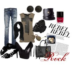 Rocker chic, need a concert night!