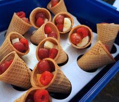 Fall Snack for Pre-Schoolers... Little Fruit Cornucopia's!