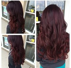 Ombre violet red purple hair