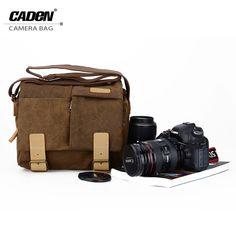 200cafb82a7 Goedkope CADeN Camera Schoudertassen Digitale Foto Video Canvas Soft Sling  Bag Pack DSLR Kleine Reizen Case