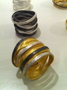 Silver and gold plated hand made rings! Napkin Rings, Gold Rings, Plating, Silver, Handmade, Jewelry, Decor, Nymphs, Jewels