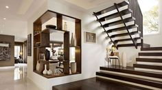 Fascinating Modern Staircase Design Ideas One Of 2 Total P 6131 Home Gallery For Modern Stairs Design Interior Stairs, Home Interior Design, Interior Architecture, Carlisle Homes, White Wall Paint, White Walls, Escalier Design, Beautiful Stairs, Wooden Staircases