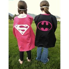Reversible Supergirl-Batgirl Cape Costume (ages 2 to 10)