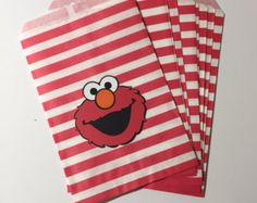 Sesame Street Favor/Treat Bags by CraftyCathy83 on Etsy