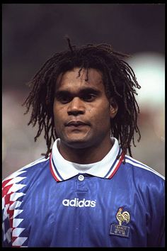 Portrait of Christian Karembeu before the start of the European Championships qualifier against Israel Stock Pictures, Stock Photos, Fifa, Eric Cantona, France Photos, European Championships, Editorial News, Football, Royalty Free Photos