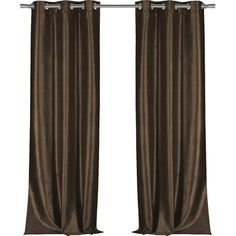 Bloomsbury Market Calumet Solid Semi-Sheer Grommet Single Curtain Panel Color: Chocolate