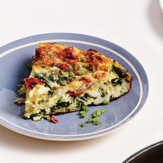 Spinach, Ham, and Gruyère Frittata | Cooking Light #myplate #protein #veggies #dairy