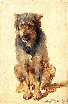 """""""Chien"""" by Rosa Bonheur, acclaimed French artist, 1822-1899"""