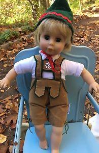 Bavarian German Austrian Swiss Boy In Lederhosen Vinyl Cloth Doll Schneider  | eBay