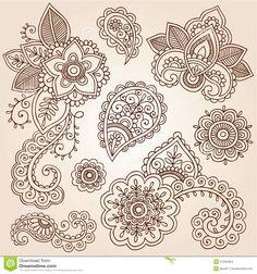Henna Mehndi Paisley Cloud Doodle Design Royalty Free Stock Photo ...