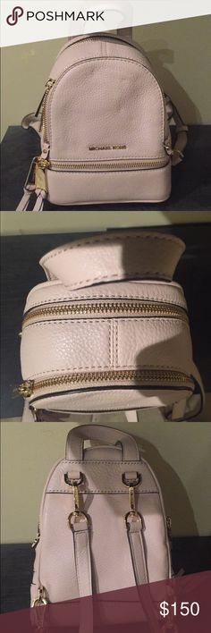 2ef6195fa155 ... michael kors xs extra small rhea backpack pink michael kors xs extra  small ...
