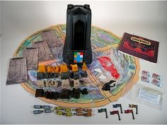 Dark Tower - This board game was awesome! I played this for hours with my friends. The goal was to collect 3 keys, then get to the tower and open it. While trying to do so you would fight dragons, brigands, get lost in the woods, find treasure, buy food, buy soldiers etc. The tower would tel you what was happening with sounds and pictures. I bought this game at a flea market years ago when older, but the tower died a few weeks after. I'll get another some day if I find one within budget.