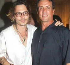 Johnny Depp with Sylvester Stallone