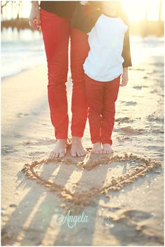 L.O.V.E. Beach Family Photography would be super cute for a wedding announcement also!!