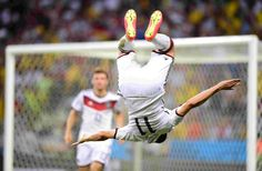 Klose's legendary backflip after scoring his 15th goal
