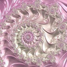 Pink fractal spiral, Art Prints for sale. Lovely pink, silver and white tones. Art for your Home Decor and Interior Design by Matthias Hauser. Art Prints For Sale, Fine Art Prints, Framed Prints, Pink Abstract, Abstract Art, Abstract Landscape, Art Fractal, Fractal Geometry, Fractal Design