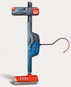 Cómo convertir un objeto cotidiano en todo un personaje El artista francés Gilbert Legrand transforma las cosas más cotidianas en personaje...