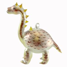 Laved Italian Ornaments Dinosaur Glass Ornament - Story Book Kids