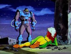 Vampira e En Sabah Nur (Apocalypse) de X-Men - The Animated Series Ms Marvel, Marvel Heroes, Marvel Villains, Marvel Funny, Scarlett O'hara, Dc Comics, Manga Comics, Jean Grey, Apocalypse Marvel