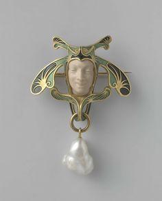 Broche in de vorm van een narrenkop, René Lalique, ca. 1897 - ca. 1899