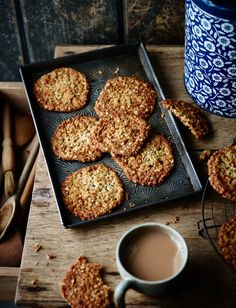 Traditionally, anzac biscuits contain coconut, but this recipe from Tamsin-Burnett-Hall is her childhood favourite recipe. If you do want to go traditional, you mix in desiccated coconut