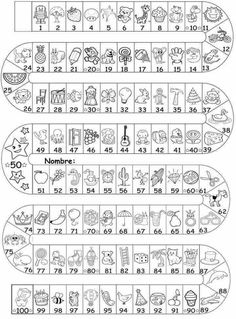 Números al 100 Kids Math Worksheets, Preschool Activities, Kids Education, Special Education, Math Pages, Alphabet Templates, Spanish Lesson Plans, English Activities, Kindergarten Reading