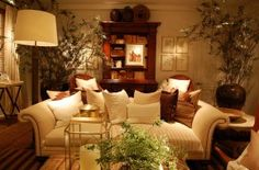 Warm interior by Ralph Lauren Home