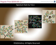 Romantic Painting Abstract Painting Landscape by QiQiGallery, $168.75