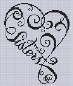 Sisters Heart Cross Stitch Pattern di MotherBeeDesigns su Etsy