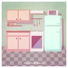 Vintage kitchen Free Vector