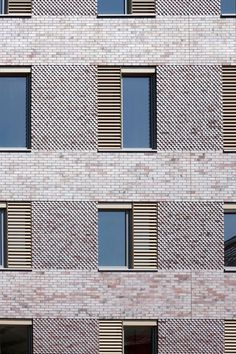 27 Trendy Ideas For Brick Wood Architecture Facade Detail Architecture, Plans Architecture, Residential Architecture, Windows Architecture, Architecture Interiors, Chinese Architecture, Architecture Office, Futuristic Architecture, Brick Design