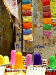 Colour being sold on the streets of Pushkar India!!!