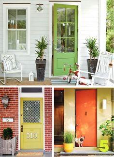 Simple & beautiful porches, doors..great blog