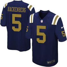 $24.99 Men's Nike New York Jets #5 Christian Hackenberg Limited Navy Blue Alternate NFL Jersey