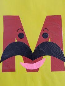 the vintage umbrella: Preschool Alphabet Projects… Letters I-P - letter crafts preschool alphabet Letter M Activities, Preschool Letter Crafts, Alphabet Letter Crafts, Abc Crafts, Preschool Projects, Preschool Art, Art Activities, Letter Art, Alphabet Books