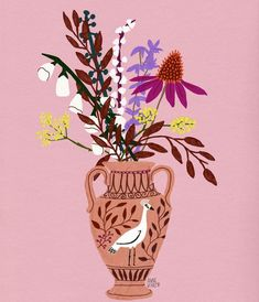 Illustration by Anne M. Bentley | floral illustrations | flower painting