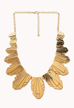 Art Deco Plated Bib Necklace | FOREVER21 - 1000127288