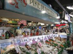 Seattle's Pike Place....what a great market!  Been there but I couldn't buy anything because I didn't have a kitchen to go to cook any of it!