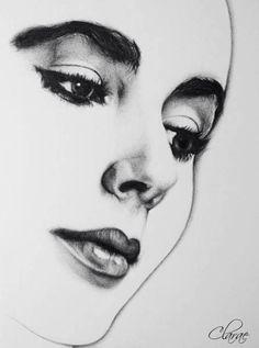 Drawing of Elizabeth Taylor