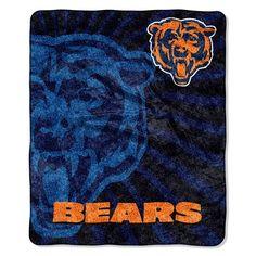 NEW NFL Chicago Bears Super Soft SHERPA Throw blanket 50X60 STROBE SERIES #ChicagoBears