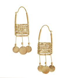 Shompole gold earrings made by the Masai