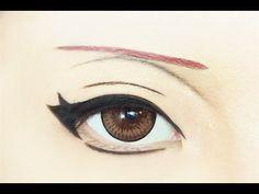 Tutorial : Anime Eye Makeup 175 • Sasori - YouTube