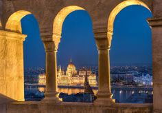 The Hungarian Parliament Building in Budapest, as seen from across the Danube by Chris Chabot Great Places, Beautiful Places, Amazing Places, Serbia And Montenegro, Buda Castle, Invisible Cities, Danube River, Cruise Port, Amazing Buildings