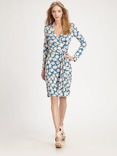 Dian von Furstenberg New Jeanne Two Dress (Usually can't go wrong with a silk jersey wrap!)