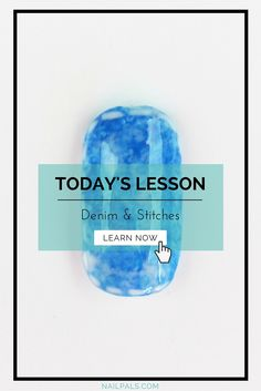 Find Out How You Can Create A Denim Texture #NailArt Design Now