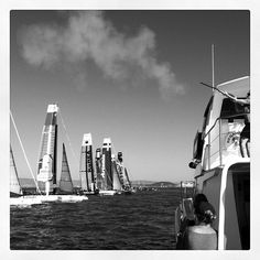 Racing in the Bay #americascup
