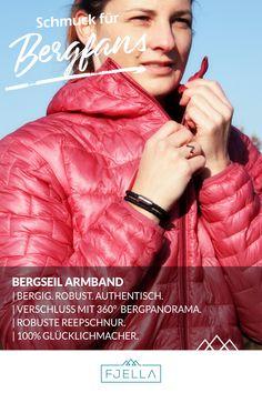 Das Bergseil Armband ist dein neuer ständiger Begleiter: in den Bergen, im Job und im Alltag. Der starke Edelstahl-Magnet-Verschluss und die robuste Reepschnur machen jedes Abenteuer mit! Das Armband ist ultraleicht und mit 360° Bergpanorama designt.     Deine Urlaubserinnerung an die Berge!    #bergschmuck #schmuck #geschenk #lifestyle #wanderlust #schmuckliebe #Geschenkidee #Valentinstag #weihnachten #geburtstag    Schmuck, Berge, Bergschmuck, Armband, Männer, Frauen, Wanderoutfit Hand Gestempelt, Bergen, Wanderlust, Movie Posters, Movies, Climbing Rope, Man Women, Mother's Day, Valentines