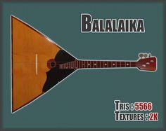Balalaika PBR textures model   3D Model